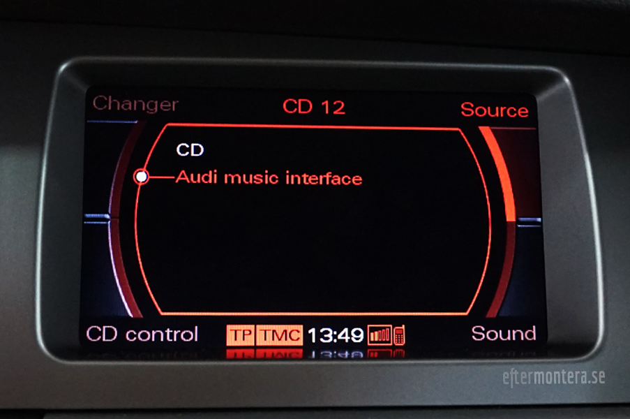 audi aux ami ipod iphone a2dp bluetooth eftermontering. Black Bedroom Furniture Sets. Home Design Ideas