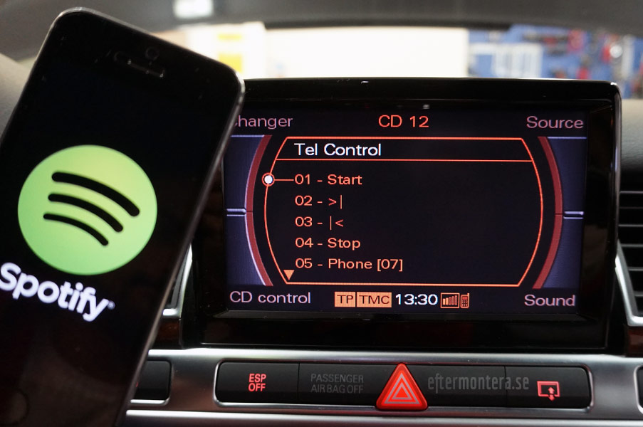 Audi Bluetooth Handsfree Eftermontering Audi A1 A2
