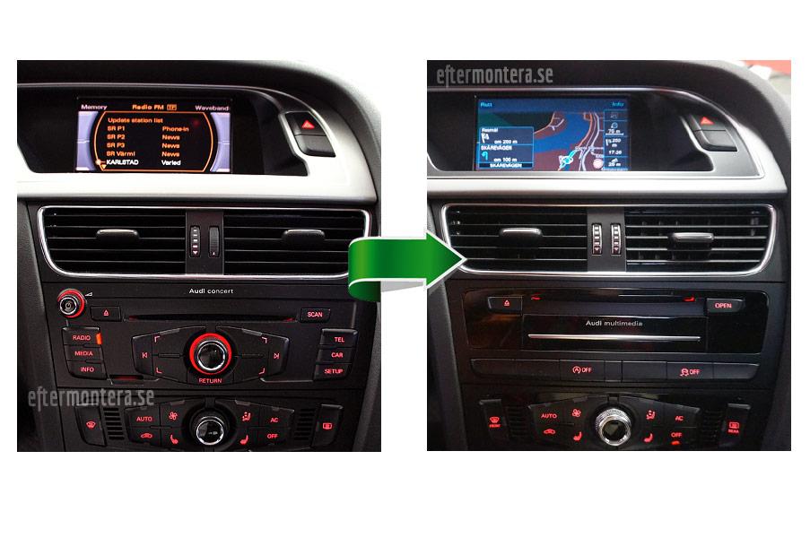Audi Navigation Navi Radio Eftermontering Audi A1