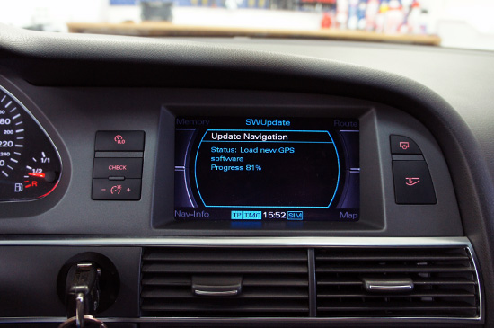 Uppdatera Audi Navigation (Navi, Radio) / eftermontering