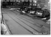 dashcam (kamera i vindrutan) övervakning på parkeringen