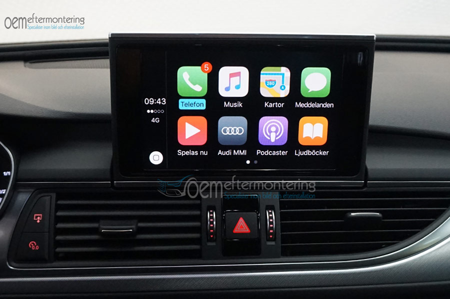 Aktivera av carplay / andriod auto i Audi A6/A7 med MMI