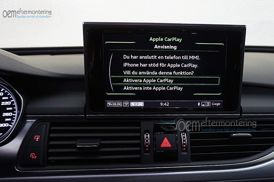 Aktivera av carplay / andriod auto i Audi A6/A7 med MMI navigation plus