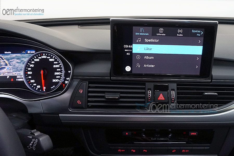 Aktivera Av Carplay Andriod Auto I Audi AA Med MMI Navigation Plus - Audi car play