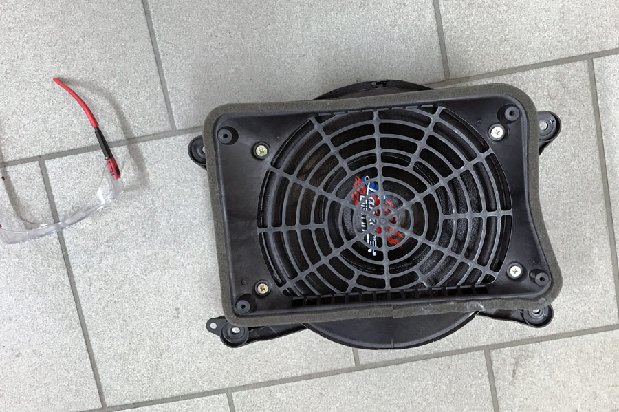 Bygga baslåda i Audi, VW