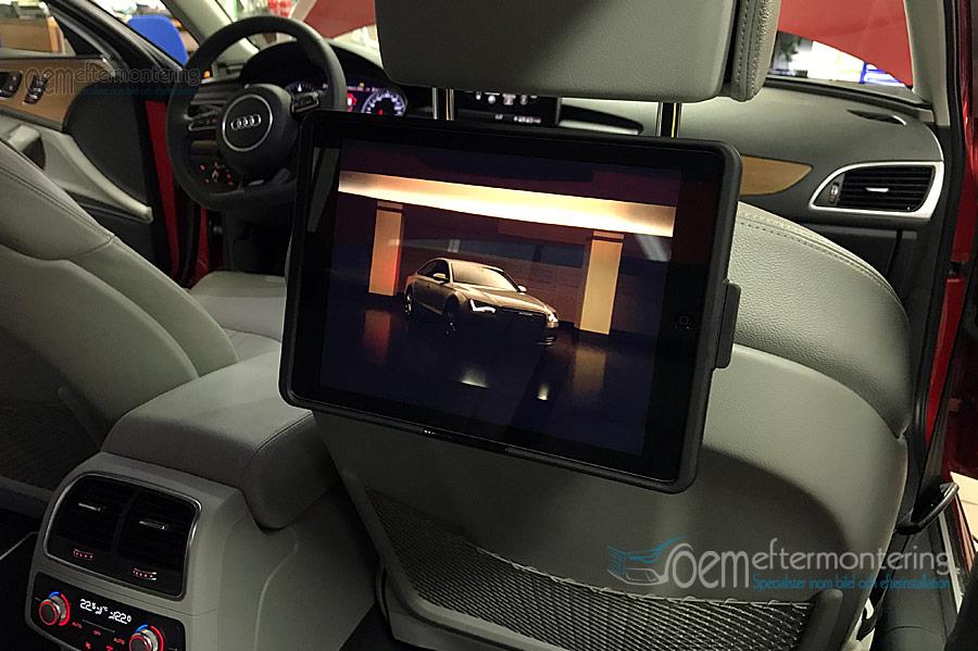 DVD-film i baksätet, Audi Baksäte