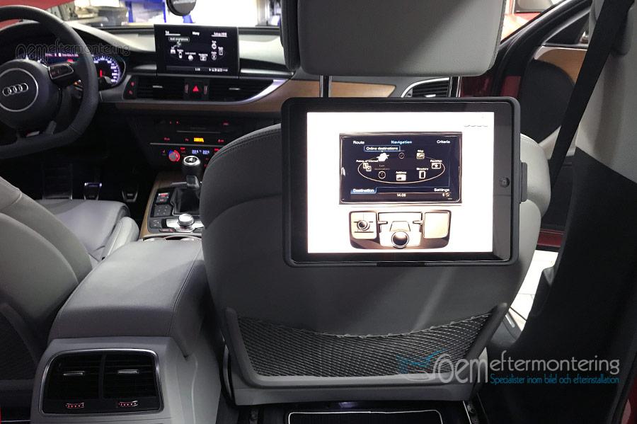 DVD-skärmar i baksätet, Audi,