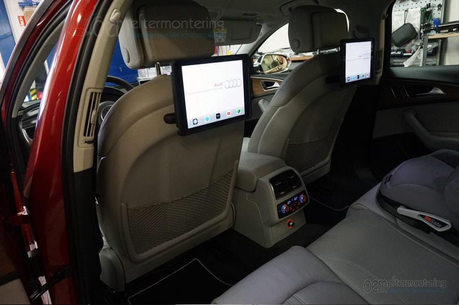 Audi (RSE) baksätesunderhållning med Apple Carplay
