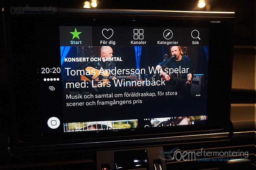 Apple carplay SVTplay, Waze, i Audi MMI Navigation+