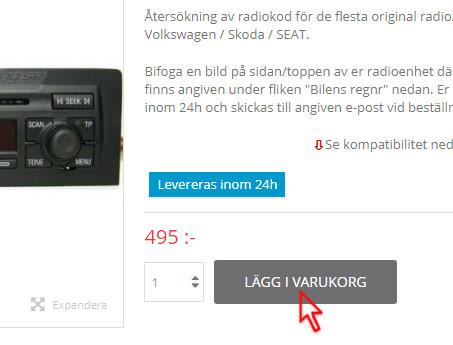 radiokod (SAFE) originalradio navigation, gps kod, säkerhetskod
