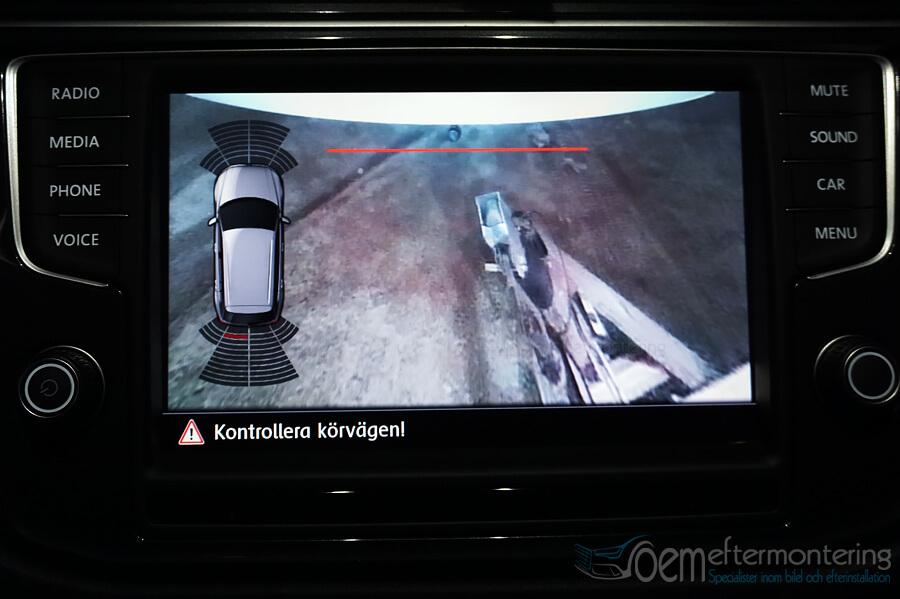 koppla dragkrok till backkamera (top view) trailer assist volkswagen