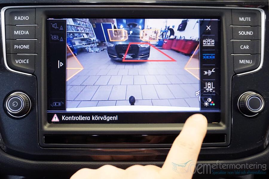 Parkeringsläge original backkamera (vw)