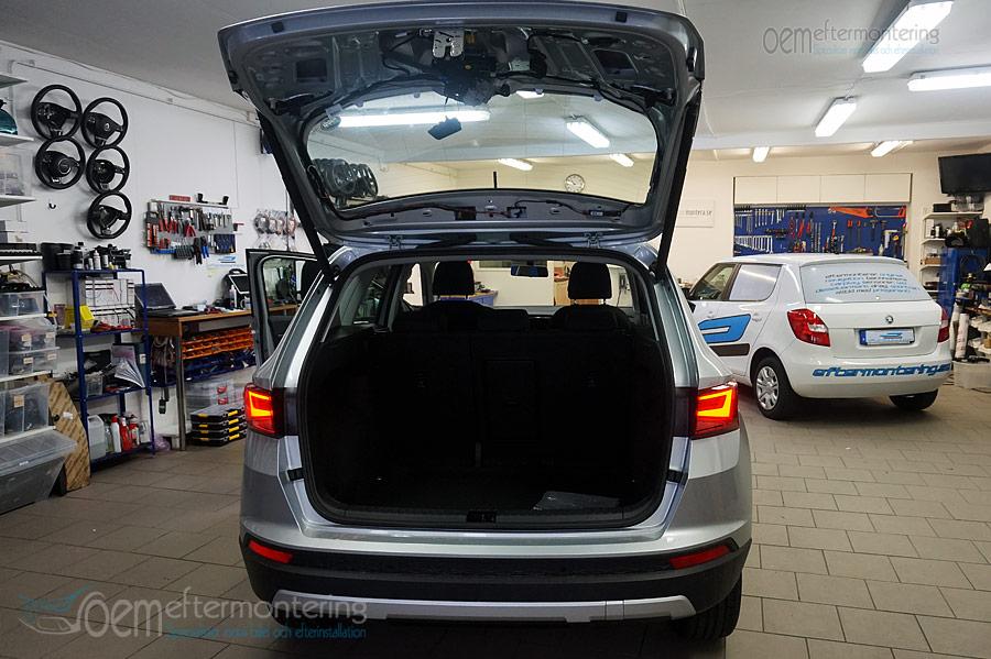 SEAT Alteca (suv) installerad backkamera i originalradio