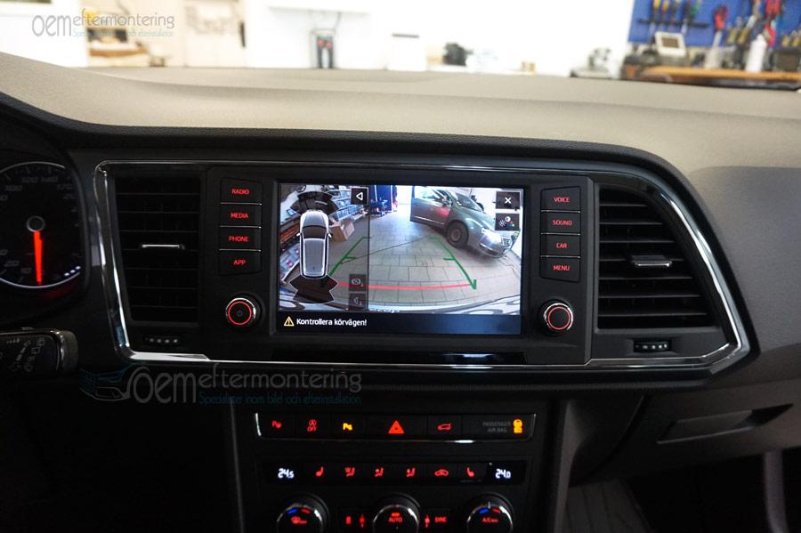 Seat original backkamera integrerad i originalradio
