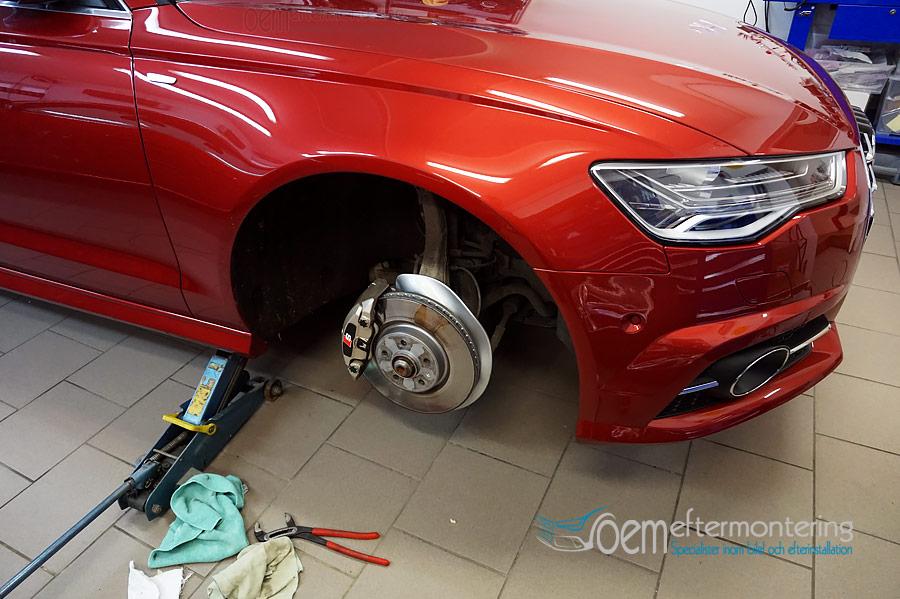 Audi a6 måla bromsok
