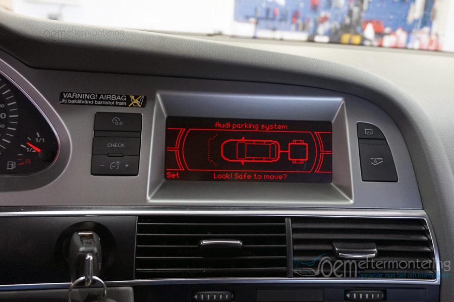 Audi MMI-radio dragkrok original
