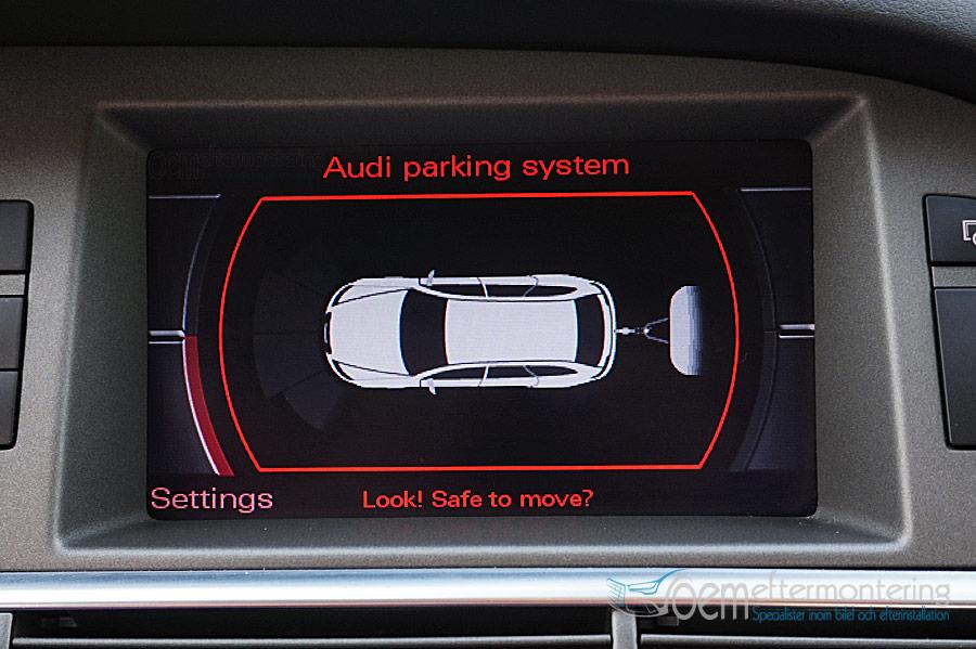 Audi original dragkrok med pdc (parksensorer) bild
