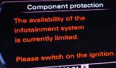 komponentskydd, vw, original navigation, eftermontering, mib, vw