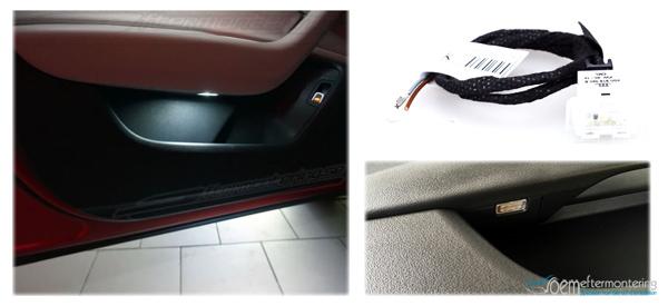 Audi LED-lampa, led diod, miljöbelysning, ambient