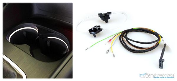 LED lampa i mugghållare, Audi A3, 8V, Q3