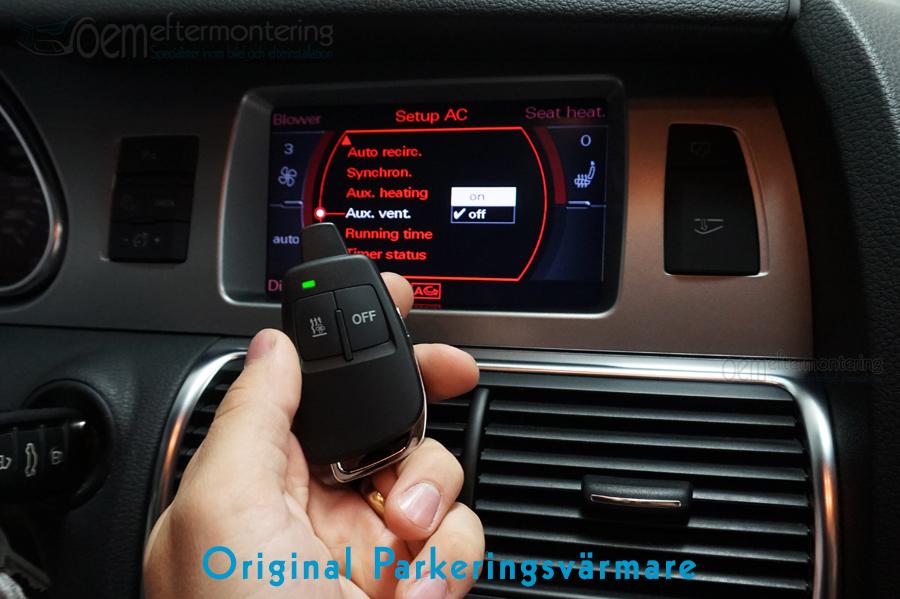 Audi q7 inbyggd parkeringsvärmare, original