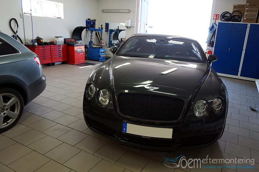 Bentley bluetooth strömning, original gps