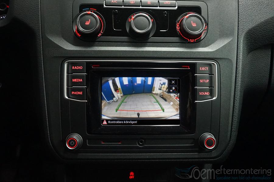 T6, Caddy radio backkamera integrerat