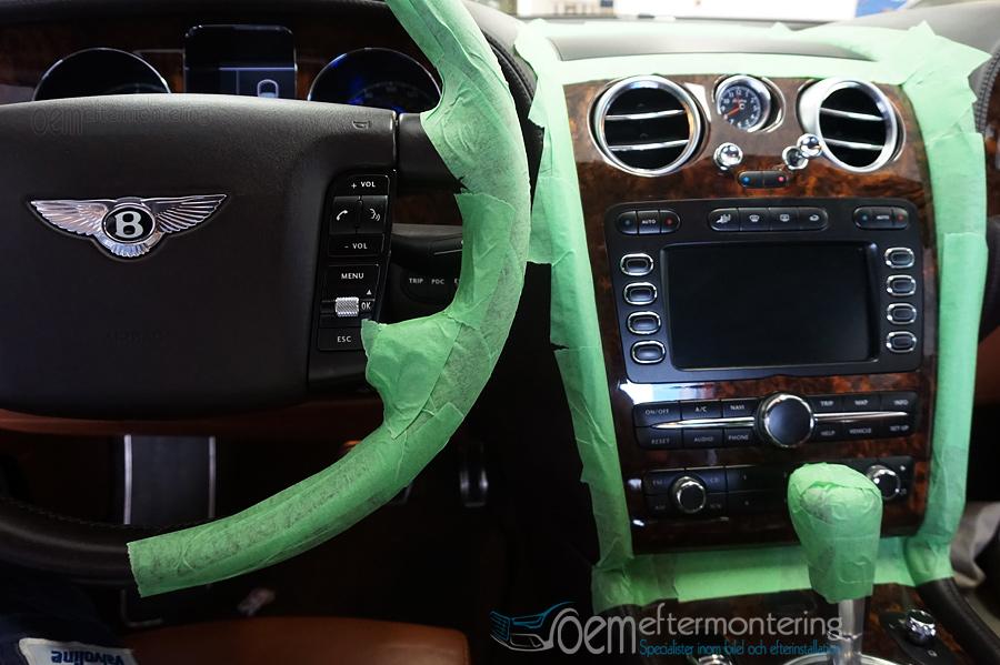 Bentley Continental radiourmontering, handsfree-system