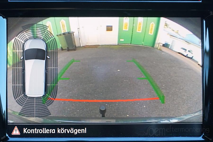 360-pdc med original backkamera, caddy, t6