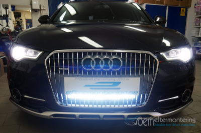 Audi A6 C7 LED extraljusramp