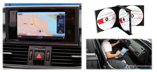 aktivera kartor, gps funktion i Audi mmi