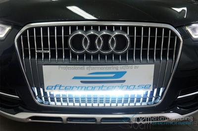 Audi A6 (4G, C7) led ramp dold bakom grillen