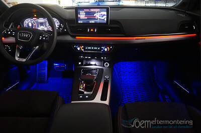 Audi ambient belysning, miljöbelysning, original