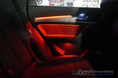 audi interiör belysning, led lampor, original, mmi,