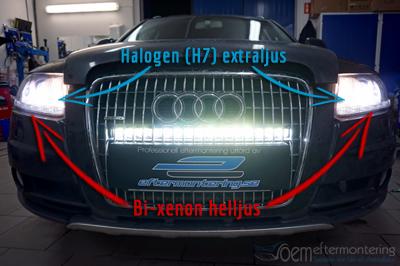 Bi-xenon Audi helljus
