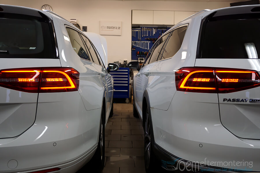 Full LED-bakljus med standard baklampor VW Passat B8