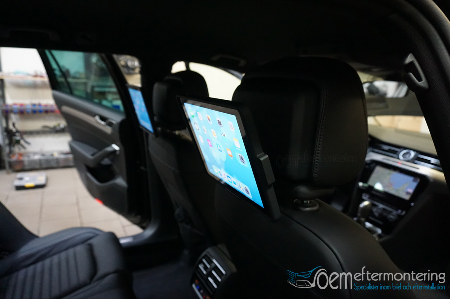 rse rear seat entertainment i vw passat b8 ipad air. Black Bedroom Furniture Sets. Home Design Ideas