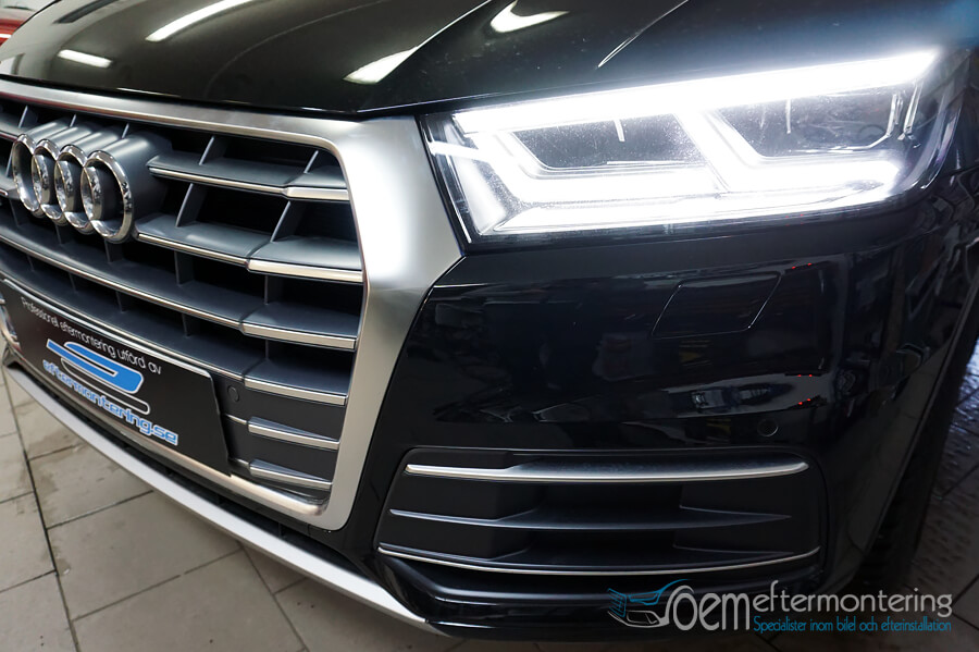 installera Audi original framsensorer med bild i radio/mmi