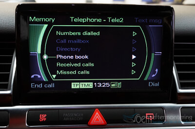 aktivera bluetooth audi radiosystem mmi