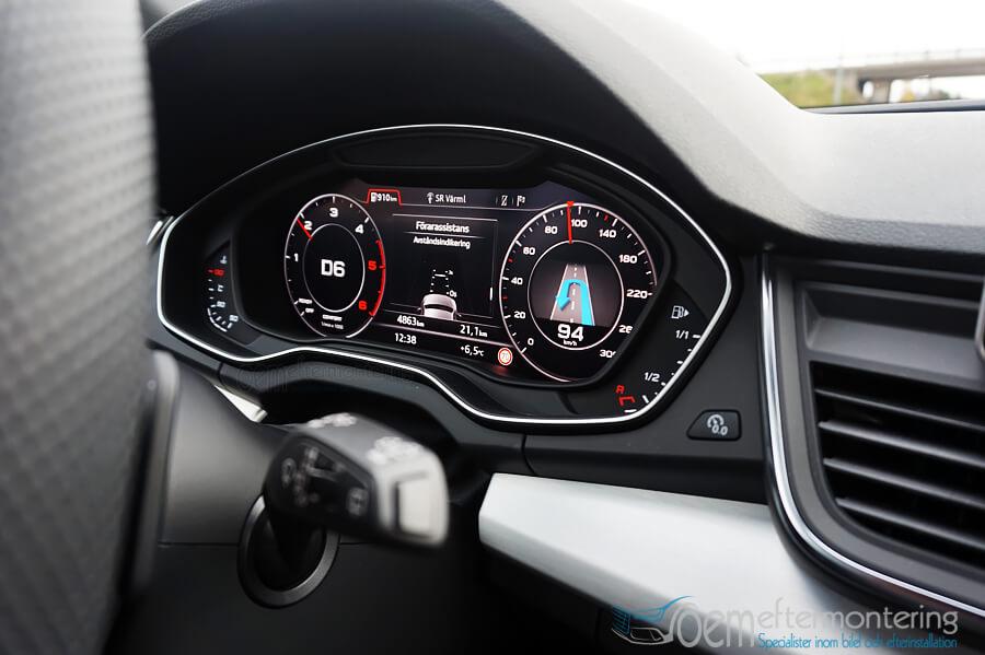 Installation av Virtual Cockpit (digitala mätartavla) i Audi A4, A5