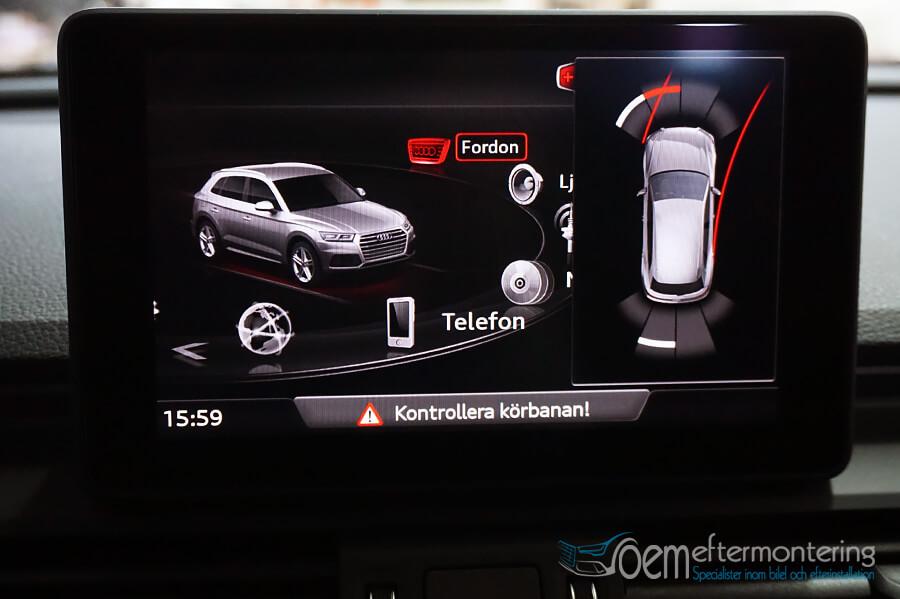Bild på parkeringshjälp i Audi MMI original