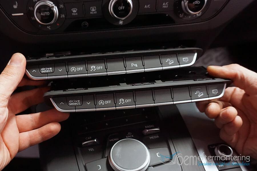 Knapp för parkeringssensorer i Audi Q5, Audi A4 och Audi A5