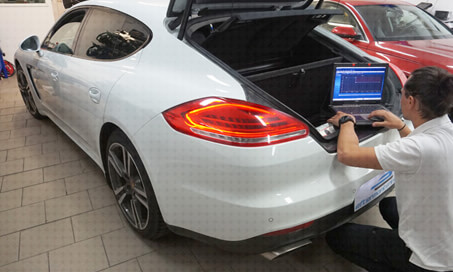 Porsche Panamera eftermontering installation
