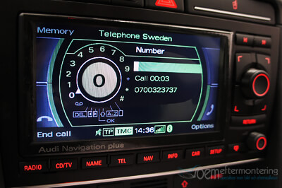 audi navigation bluetooth telefon programmera