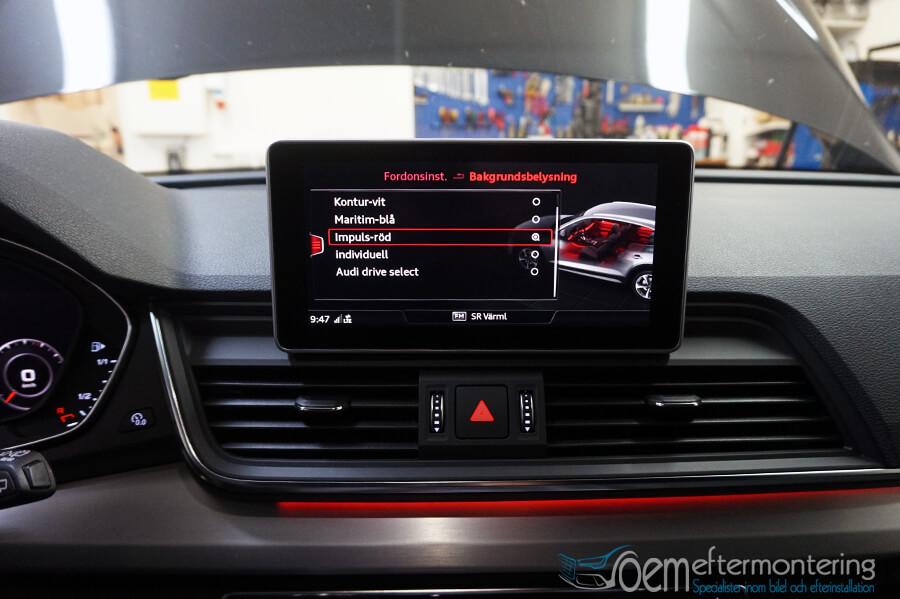 Ambient lightning Audi Original retrofit
