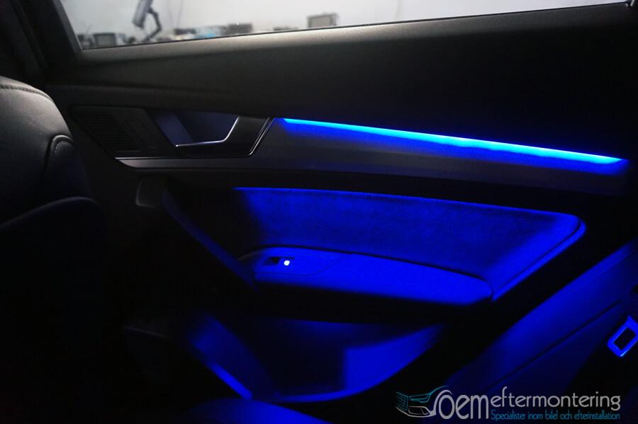 Audi interior door lightning extended