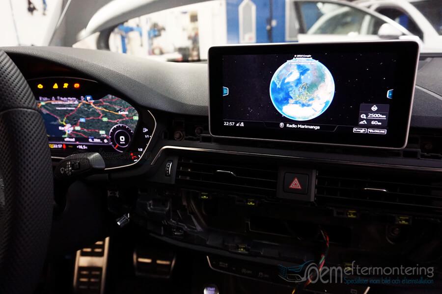 MMI Navigation i Audi A4 / A5 / Q5 med årsmodell 2016, 2017, 2018, 2019