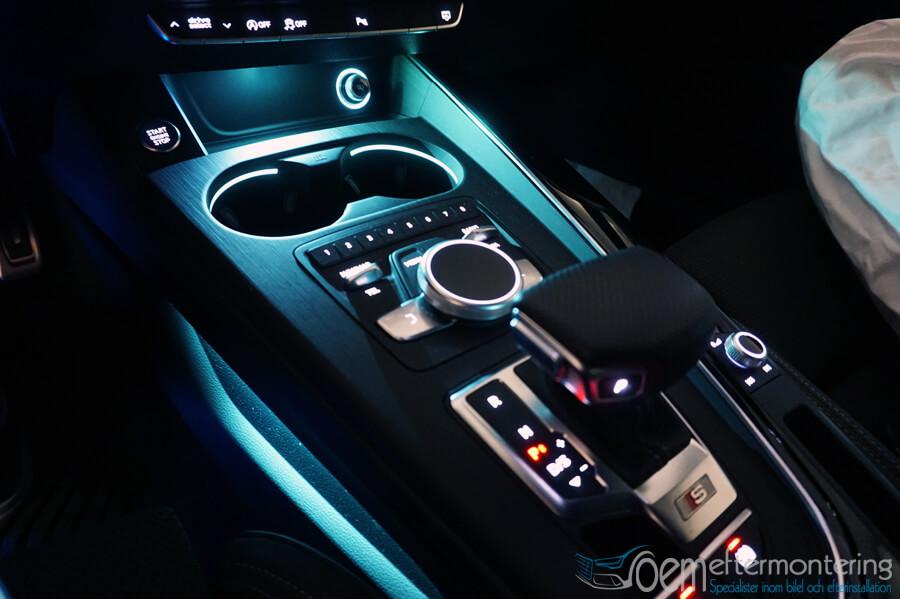 Ambient belysning i mittkonsolen Audi original