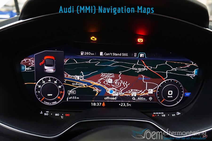 Audi TT (8S) kartor från MMI Navigation Plus