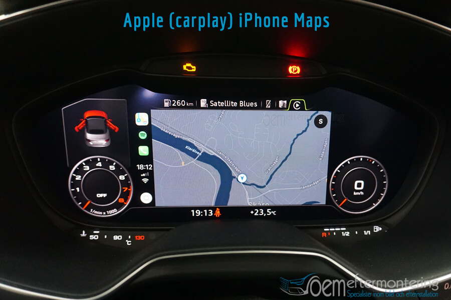Audi TT (8S) kartor från Apple (carplay) iPhone